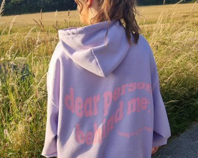 Lilac This Is Your Day Oversized Hoodie