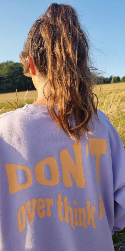 Lilac Don't Overthink It Oversized Sweatshirt