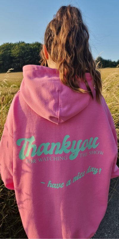 Bright Pink Have A Nice Day Oversized Hoodie